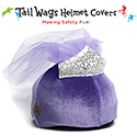 Image of 110: Tailwags Helmet Covers -Purple Velvet Princess