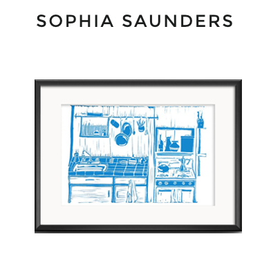 "69: Sophia Saunders Framed Print ""Kitchen"""