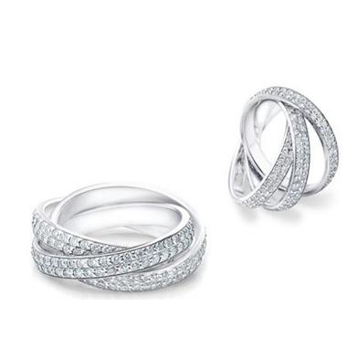 101: 18K White Gold Plated Swarovski Eternity Ring