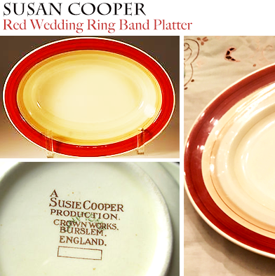 12: Susie Cooper Wedding Ring Oval Serving Plate
