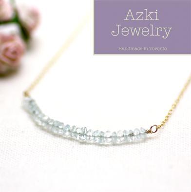 18: Aquamarine Gemstone Necklace