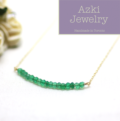 27: Green Onyx Gemstone Necklace