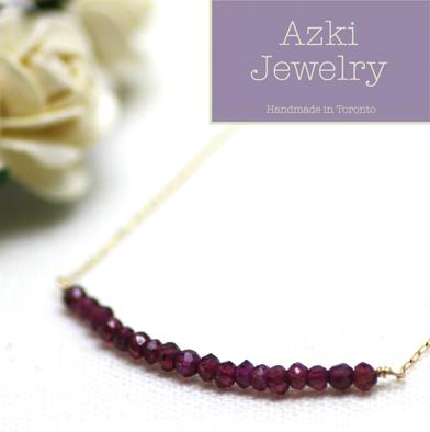 20: Garnet Gemstone Necklace