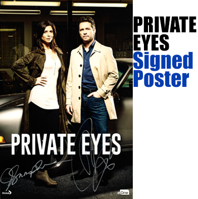 "25: Signed ""Private Eyes"" Poster"