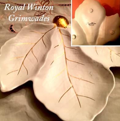 26: Royal Winton Grimwades- Leaf Shaped Dish