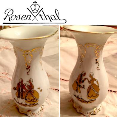 27: Rosenthal Gold & White Vase