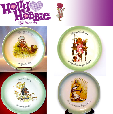 71: 4 Holly Hobbie Collector Plates