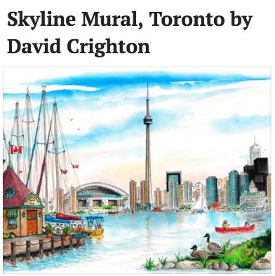 9: Skyline Mural, Toronto -David Crighton $150
