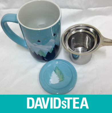37: David's Tea - Mug with Infuser & Lid