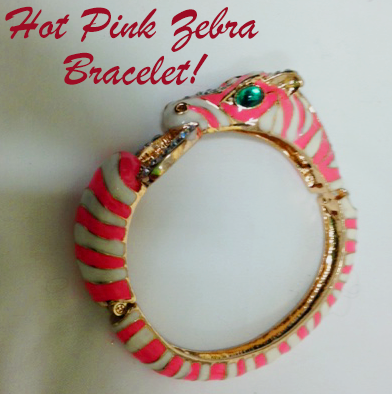 56: Ciner Vintage Hinged Zebra Bracelet