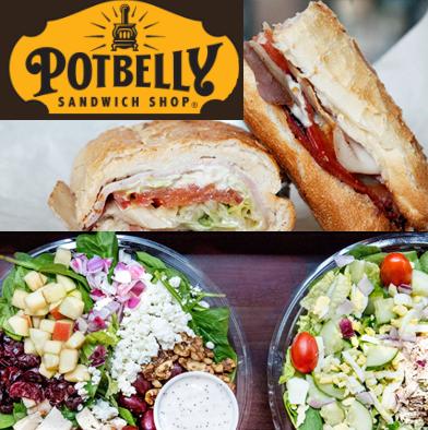 11: Potbelly Sandwich Shop $25.00 Gift card