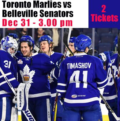 101: 2 tickets Marlies vs Senators Dec 31