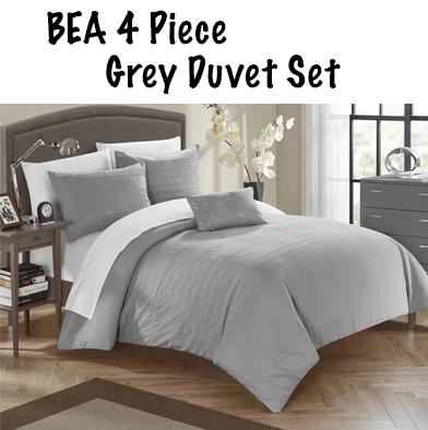 77: BEA 4 Piece Queen Duvet Set