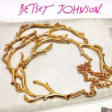 83: Betsey Johnson Tree Necklace