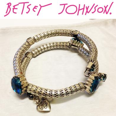 85: Betsey Johnson Silver Wrap Bracelet