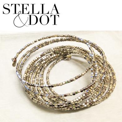 94: Stella & Dot Bardot Spiral Wrap Bracelet
