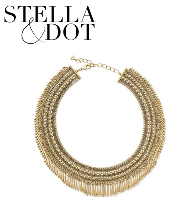 96: Stella & Dot Tansy Fringe Necklace